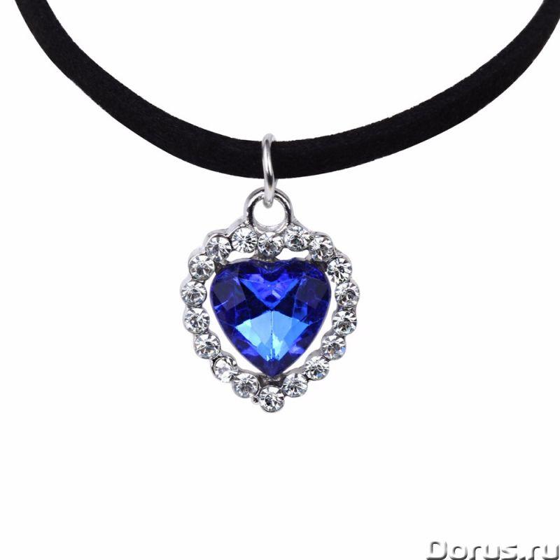 """Ожерелье """"Сердце Океана"""" - Ювелирные изделия - Цвет: синий, стиль: модный, рисунок: сердце. Материал..., фото 1"""
