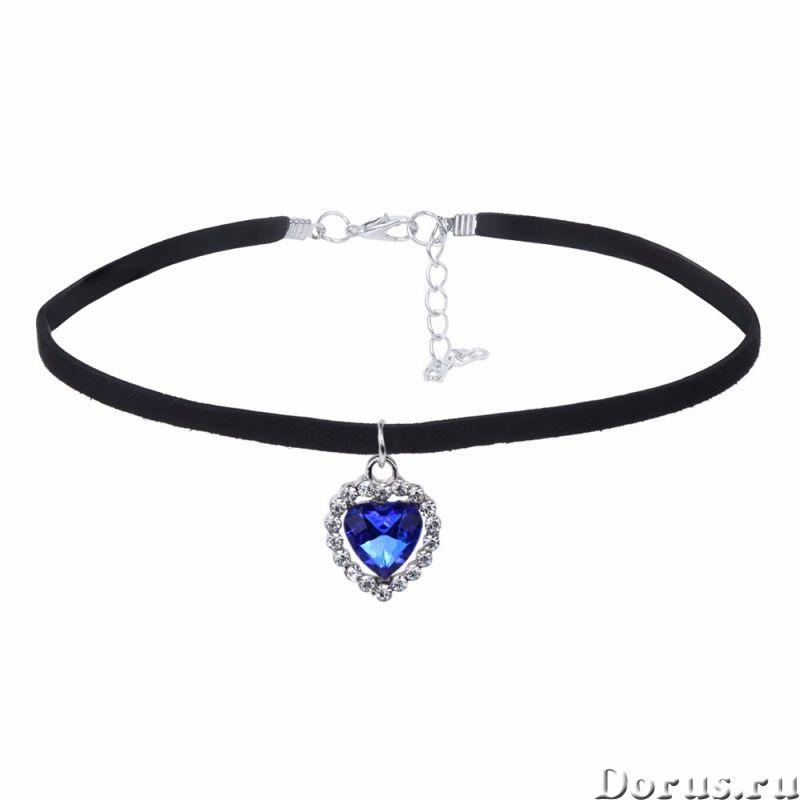 """Ожерелье """"Сердце Океана"""" - Ювелирные изделия - Цвет: синий, стиль: модный, рисунок: сердце. Материал..., фото 2"""